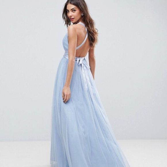 778a20e02 ASOS Dresses & Skirts - ASOS premium Tulle Maxi Prom Dress with Ribbon Tie